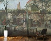 Pleasure Gardens at Montmartre, 1886 (oil on canvas) mural wallpaper kitchen preview
