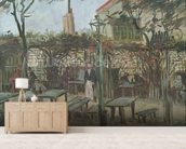 Pleasure Gardens at Montmartre, 1886 (oil on canvas) mural wallpaper living room preview