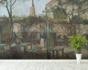Pleasure Gardens at Montmartre, 1886 (oil on canvas) mural wallpaper in-room view