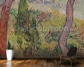 The Park at the Saint-Paul Hospital, 1889 (oil on canvas) wallpaper mural kitchen preview