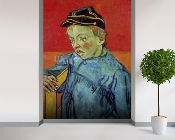 The Schoolboy, 1889-90 (oil on canvas) mural wallpaper room setting
