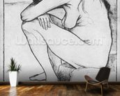 Sorrow, 1882 (litho) (b/w photo) wallpaper mural kitchen preview