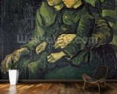 Mother and Child, 1885 (oil on canvas) mural wallpaper kitchen preview