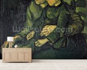 Mother and Child, 1885 (oil on canvas) mural wallpaper living room preview