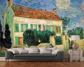 Van gogh wall murals vincent van gogh wallpaper for Mural room white house