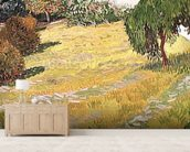 Field in Sunlight, 1888 (oil on canvas) wall mural living room preview
