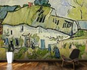 The Farm in Summer, 1890 (oil on canvas) wallpaper mural kitchen preview