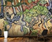 Tree roots, 1890 (oil on canvas) wall mural kitchen preview
