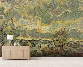 Autumn landscape, 1890 (oil on canvas) wallpaper mural living room preview