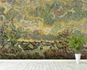 Autumn landscape, 1890 (oil on canvas) wallpaper mural in-room view
