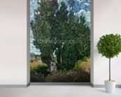 The cypresses, c.1889-90 (oil on canvas) mural wallpaper in-room view