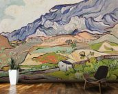 The Alpilles, 1890 (oil on canvas) wall mural kitchen preview