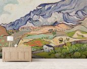 The Alpilles, 1890 (oil on canvas) wall mural living room preview