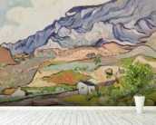 The Alpilles, 1890 (oil on canvas) wall mural in-room view