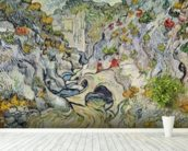 The ravine of the Peyroulets, 1889 (oil on canvas) wallpaper mural in-room view
