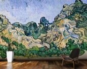 The Alpilles, 1889 (oil on canvas) mural wallpaper kitchen preview
