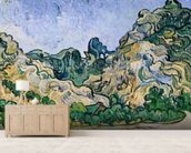 The Alpilles, 1889 (oil on canvas) mural wallpaper living room preview