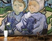 Two Little Girls, 1890 (oil on canvas) wallpaper mural kitchen preview