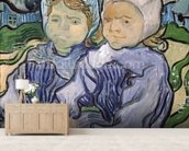 Two Little Girls, 1890 (oil on canvas) wallpaper mural living room preview