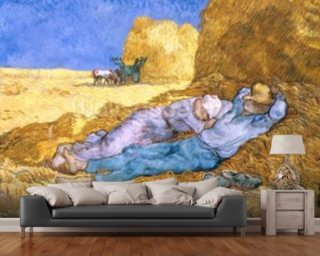 Noon, or The Siesta, after Millet, 1890 (oil on canvas) wall mural