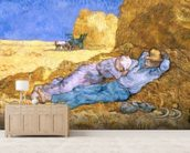 Noon, or The Siesta, after Millet, 1890 (oil on canvas) wall mural living room preview