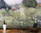 Mademoiselle Gachet in her garden at Auvers-sur-Oise, 1890 (oil on canvas) wall mural kitchen preview
