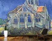 The Church at Auvers-sur-Oise, 1890 (oil on canvas) wallpaper mural kitchen preview
