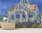 The Church at Auvers-sur-Oise, 1890 (oil on canvas) wallpaper mural living room preview