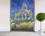 The Church at Auvers-sur-Oise, 1890 (oil on canvas) wallpaper mural in-room view