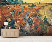 Red Vineyards at Arles, 1888 (oil on canvas) mural wallpaper living room preview