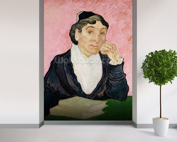 The woman from Arles (oil on canvas) wallpaper mural room setting