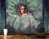 Head of an Angel, after Rembrandt, 1889 (oil on canvas) mural wallpaper kitchen preview