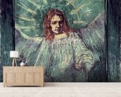 Head of an Angel, after Rembrandt, 1889 (oil on canvas) mural wallpaper living room preview