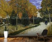 Path in the Park at Arles, 1888 (oil on canvas) mural wallpaper kitchen preview