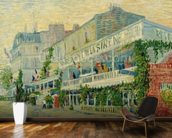 Restaurant de la Sirene at Asnieres, 1887 (oil on canvas) wallpaper mural kitchen preview