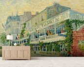 Restaurant de la Sirene at Asnieres, 1887 (oil on canvas) wallpaper mural living room preview