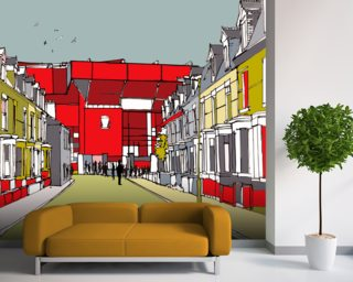 Stadiums by Jamie Edwards Wall Murals Wallpaper