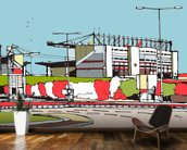 Britannia Stadium mural wallpaper kitchen preview