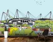 Etihad Stadium mural wallpaper kitchen preview