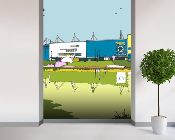 Leicester City Stadium wallpaper mural room setting