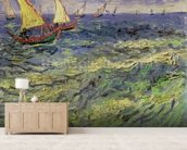 Seascape at Saintes-Maries (View of Mediterranean) 1888 (oil on canvas) wall mural living room preview