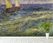 Seascape at Saintes-Maries (View of Mediterranean) 1888 (oil on canvas) wall mural in-room view