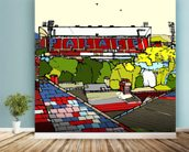 Selhurst Park wallpaper mural in-room view