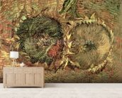 Two Cut Sunflowers, 1887 (oil on canvas) wallpaper mural living room preview