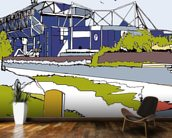 Stamford Bridge mural wallpaper kitchen preview