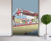 Upton Park wallpaper mural in-room view
