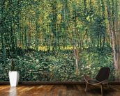 Trees and Undergrowth, 1887 (oil on canvas) mural wallpaper kitchen preview