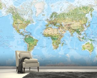 World map wallpaper wall murals wallsauce australia world wall map environmental gumiabroncs Gallery
