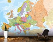 Political Europe Map wall mural kitchen preview