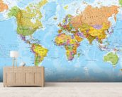 Political World Map wall mural living room preview